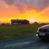 Felg i solnedgang