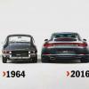 Porsche 911 - 1964 vs 2016