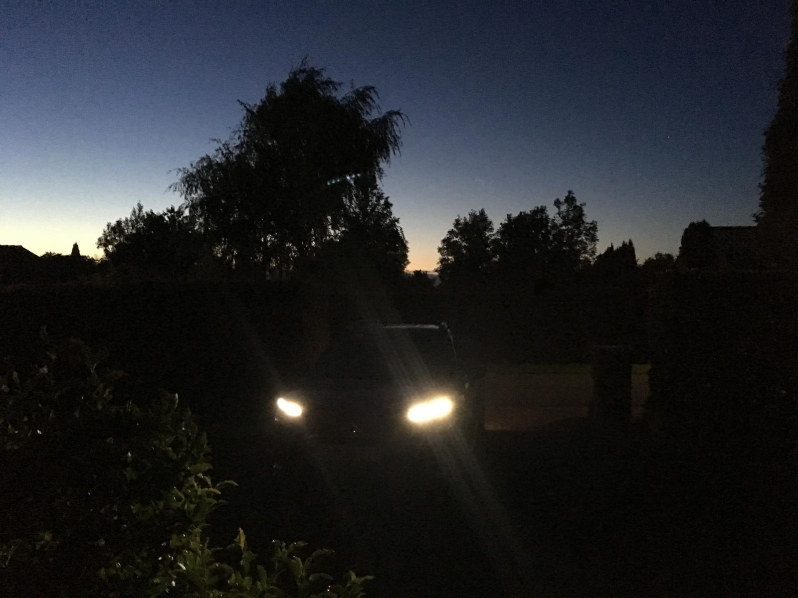 Lyset mot nord med LED 10.08.2017