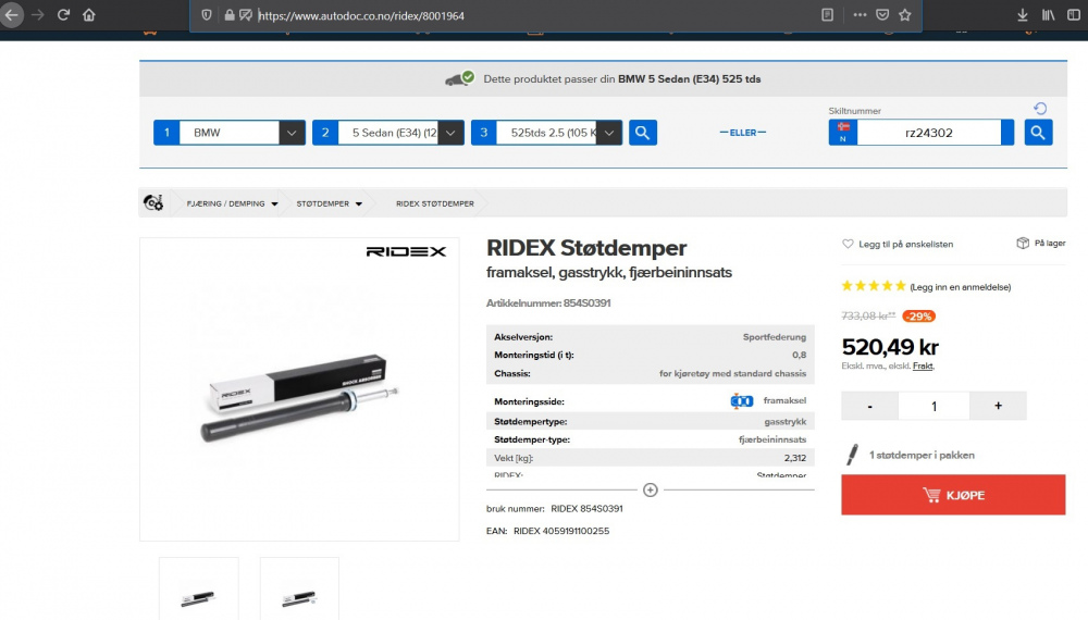 Ridex støtdemper,framaksel,bmw e34 525.jpg